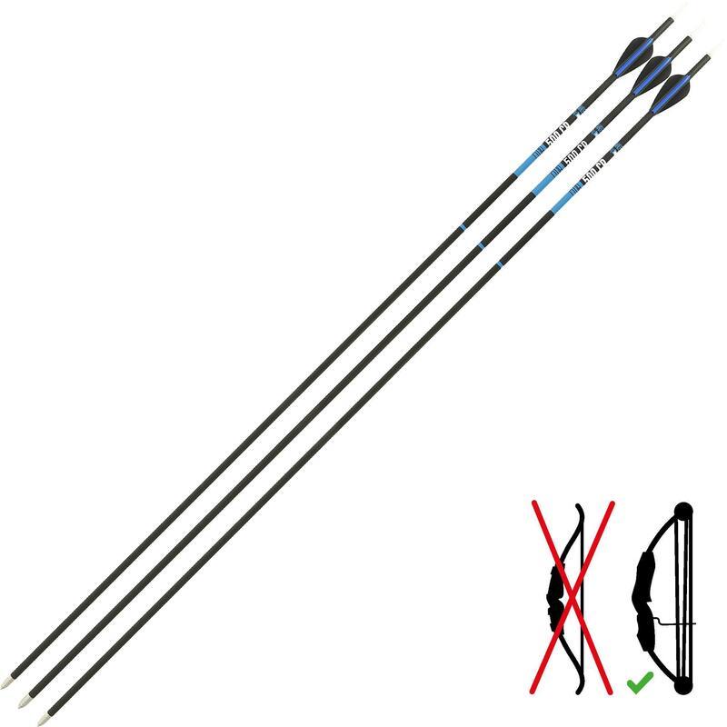 Carbonpijlen Club 500 CB X3 voor compoundboog