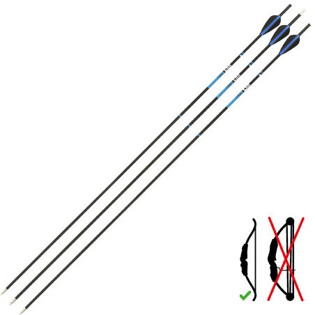 Carbon Archery Arrows for Recurve Bow Tri-Pack Club 500