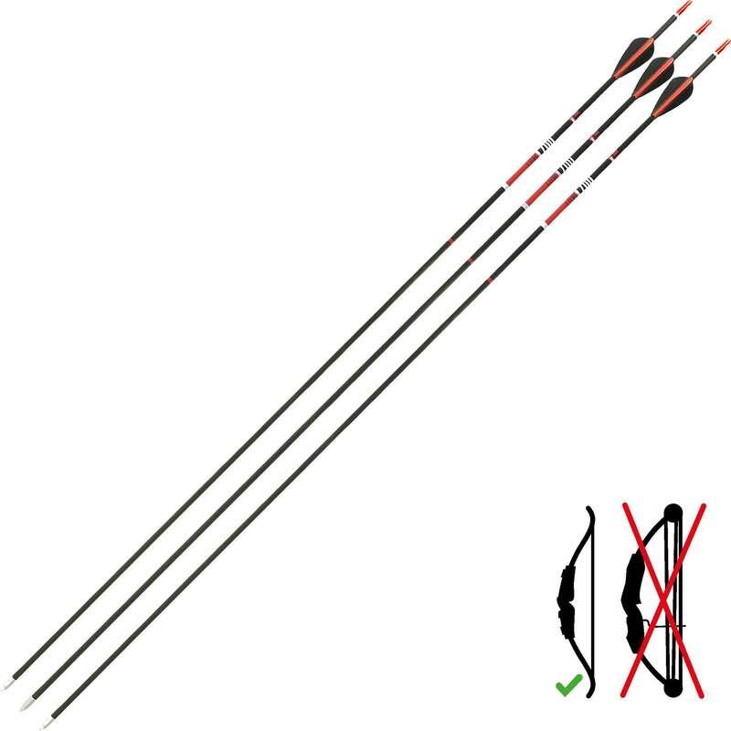 ARCHI, FRECCE, KIT Arceria, Freccette, Bocce, Biliardo - Frecce CLUB 700 x3 GEOLOGIC - Tiro con l'arco