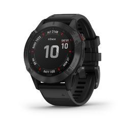 Gps-horloge multisport Fenix 6 Pro grijs (zwart bandje)