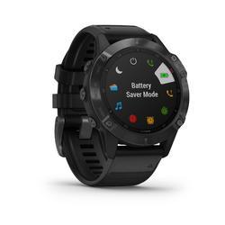 Montre GPS multisport Garmin fenix 6 PRO grise bracelet noir