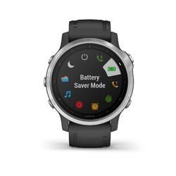 Gps-horloge multisport Fenix 6 zilver (zwart bandje)