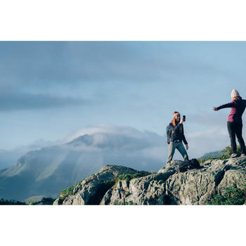 Fleecejacke Bergwandern MH100 Damen graublau