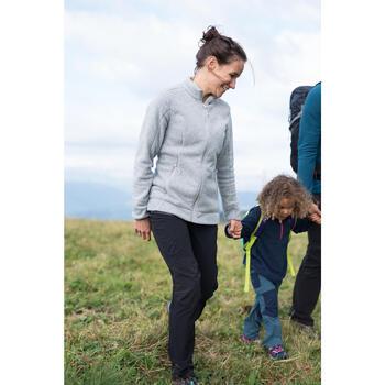 Veste polaire de randonnée montagne femme MH120 gris clair