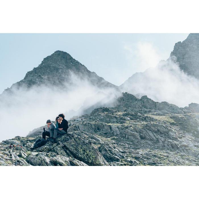 Fleece bodywarmer voor bergwandelen heren MH120 zwart