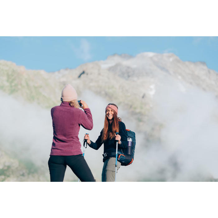 Polaire de randonnée montagne femme MH100 bleu gris