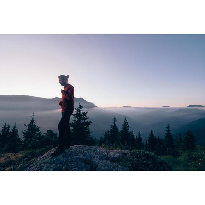 Fleecejacke MH900 Bergwandern Herren blau meliert