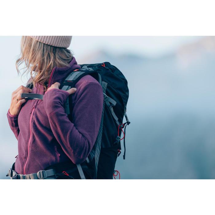 Damesfleece voor bergwandelen MH100 paars