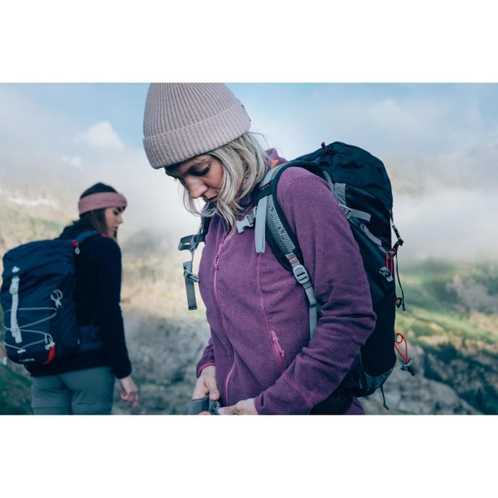 Chaqueta polar de senderismo montaña mujer MH120 violeta