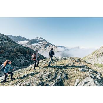 Fleecejacke MH120 Bergwandern Herren grau meliert