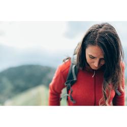 Damesfleece voor bergwandelen MH120 rood bordeaux