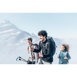 Fleecepullover MH100 Bergwandern Herren türkis