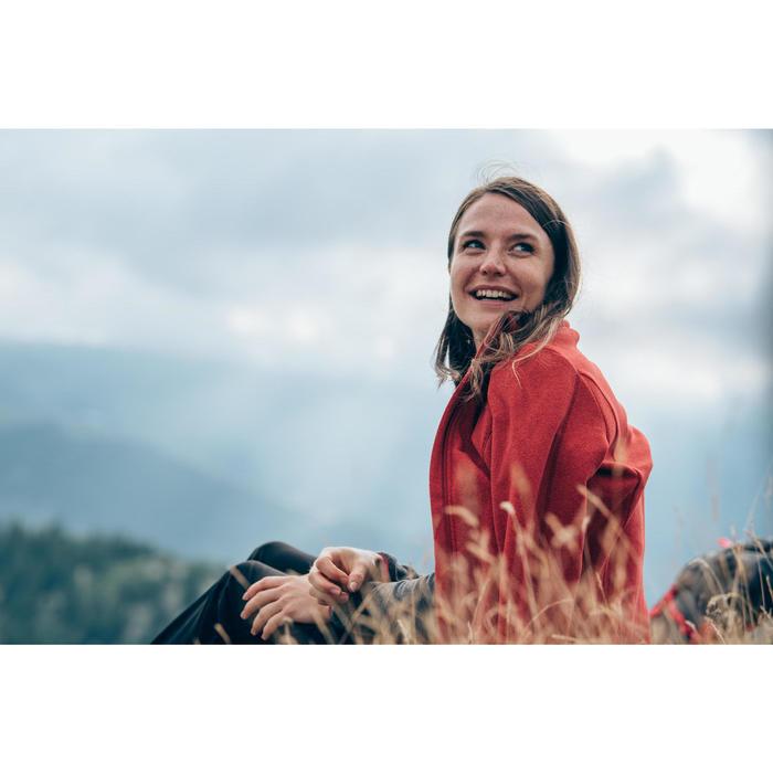 Veste polaire de randonnée montagne femme MH120 rouge bordeaux