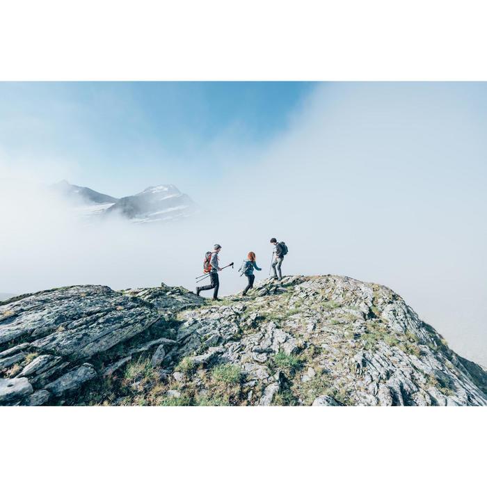 Fleeceweste MH120 Bergwandern Damen schwarz