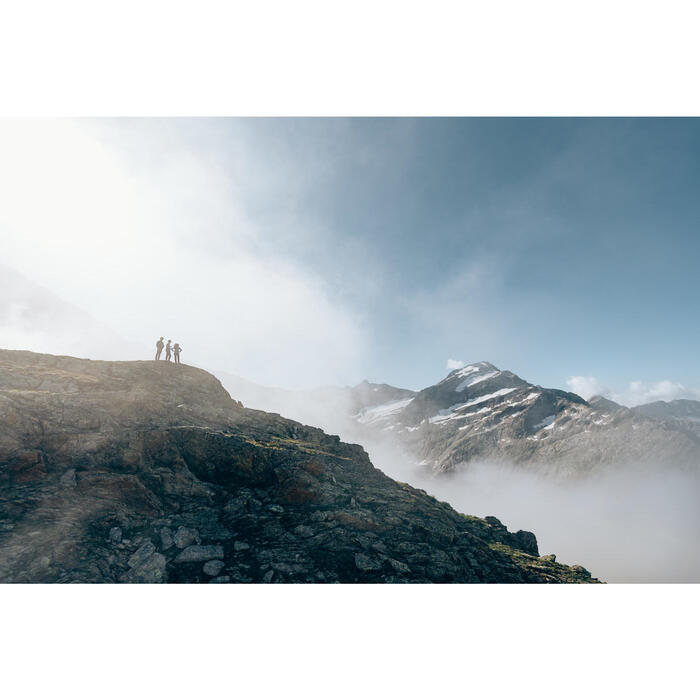 Veste polaire de randonnée montagne MH520 femme beige