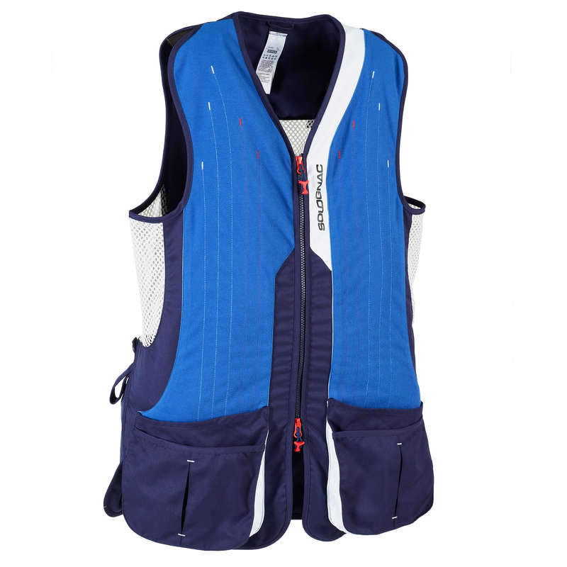 CLAY SHOOTING EQUIPMENT Shooting and Hunting - Clay Gilet 520 Sporting - Blue SOLOGNAC - Clay Pigeon Shooting