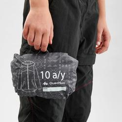 Veste imperméable de randonnée - MH150 imprimée grise tribal - enfant