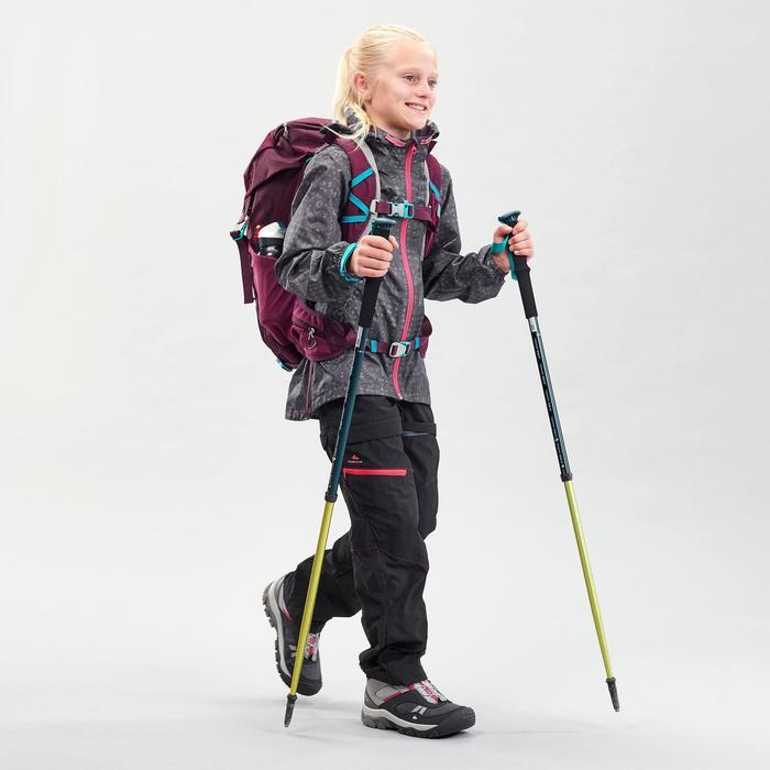 Kids Waterproof Hiking Jacket - MH150 - Grey Tribal