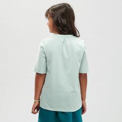 T-Shirt de randonnée - MH100 vert pâle - enfant 7 à 15 ans