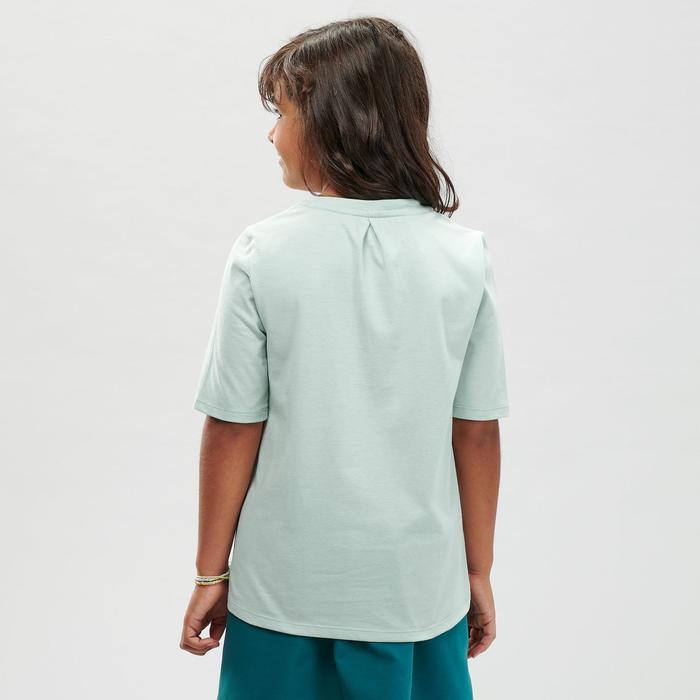 T-Shirt de randonnée - MH100 vert pâle - enfant