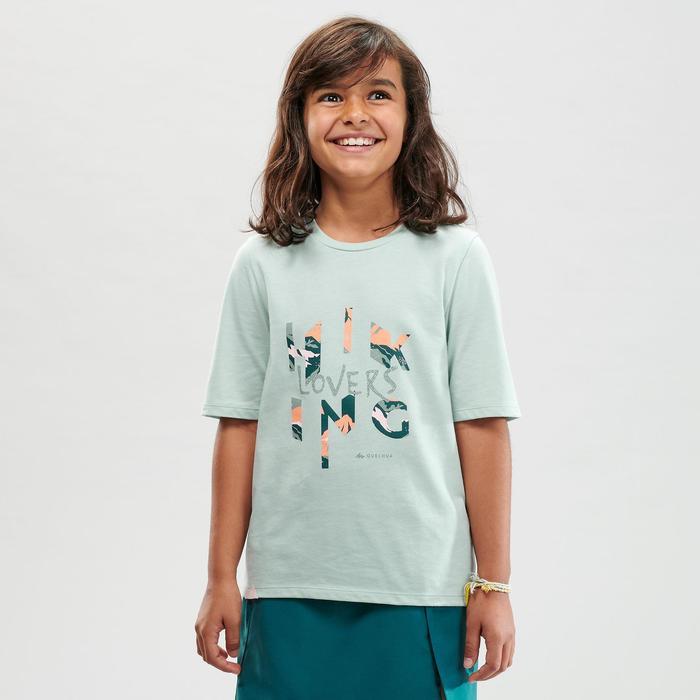 Wandelshirt kinderen MH100 lichtgroen