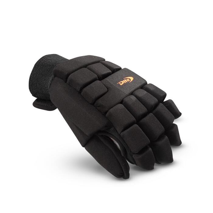 Zaalhockeyhandschoen voor volwassenen links heel intensief Dita zwart