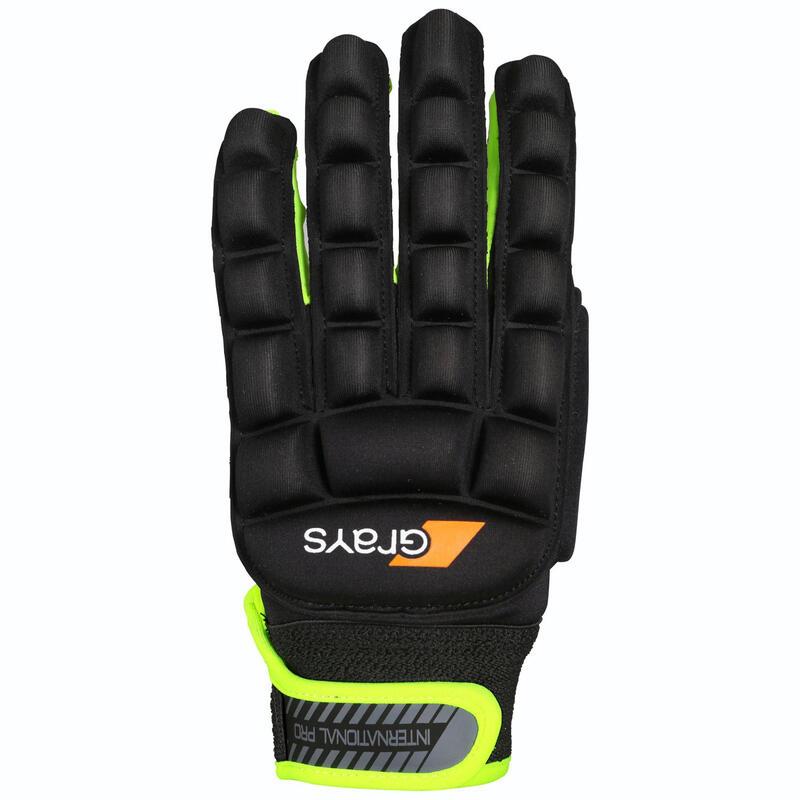 Kids'/Adult Medium Intensity Indoor Hockey Left Glove Grays - Black
