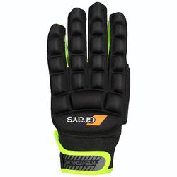 Handschoen voor hockey gemiddelde intensiteit kinderen/volwassenen Grays zwart