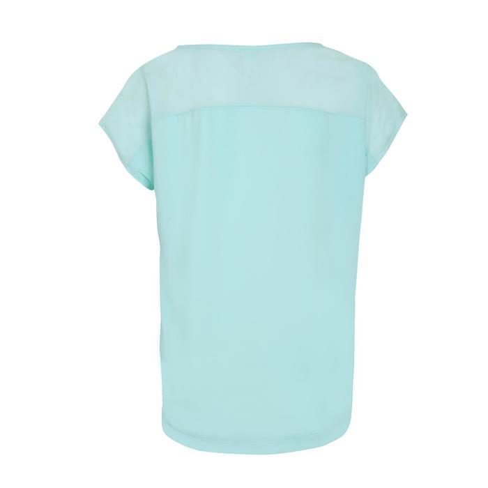 Women's Fitness Cardio Training T-Shirt 120 - Turquoise Print