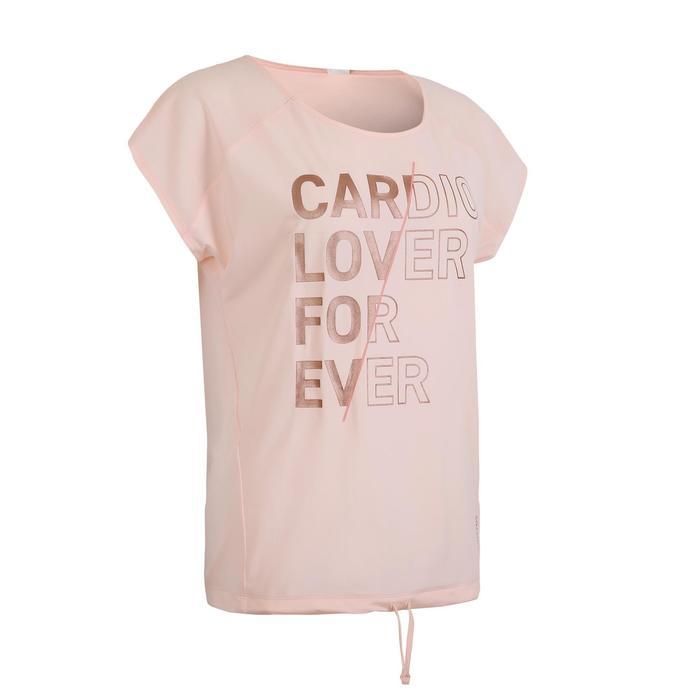 Women's Fitness Cardio Training T-Shirt 120 - Pink Print