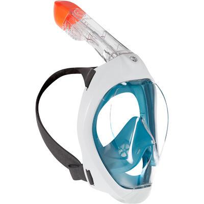 Careta Snorkel Superficie Easybreath 500 Turquesa Oscuro