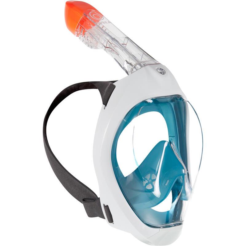 Mască Snorkeling la Suprafață Easybreath 500 Turcoaz