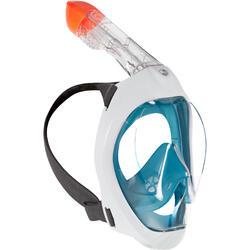 浮潛面鏡Easybreath 500-深碧藍色
