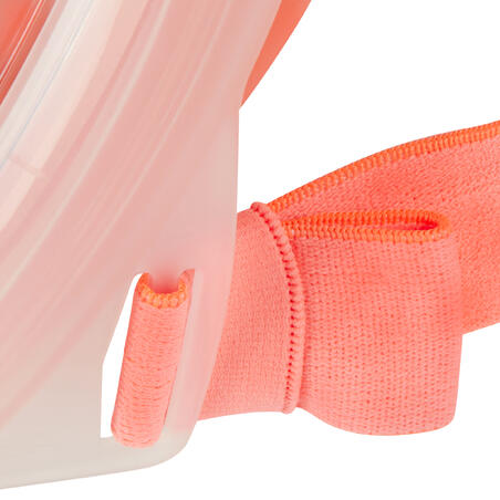 Masque de snorkeling en surface Easybreath 500 corail rose
