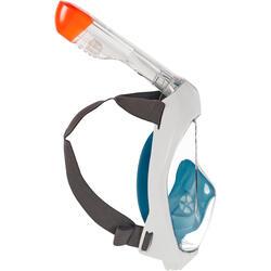 Máscara de Snorkeling à superfície Easybreath 500 Turquesa Escuro