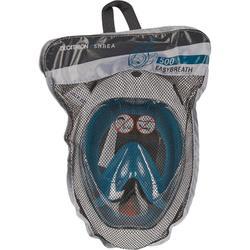 Masque de snorkeling en surface Easybreath 500 turquoise foncé