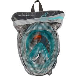 Masque de snorkeling en surface Easybreath 500 turquoise clair