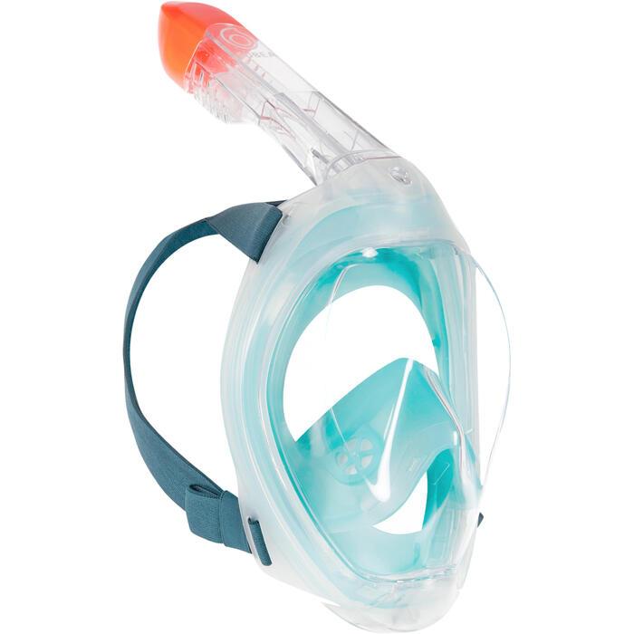 Snorkelmasker Easybreath 500 lichtturquoise