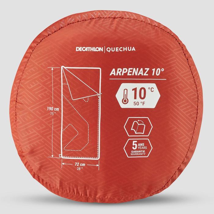Kampeerslaapzaak Arpenaz 10°C bruin