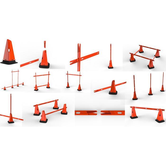 Kegels voor training Modular 30 cm oranje set van 4