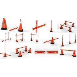 Lote de 4 bases Modular 30 cm naranja para entrenamientos de fútbol