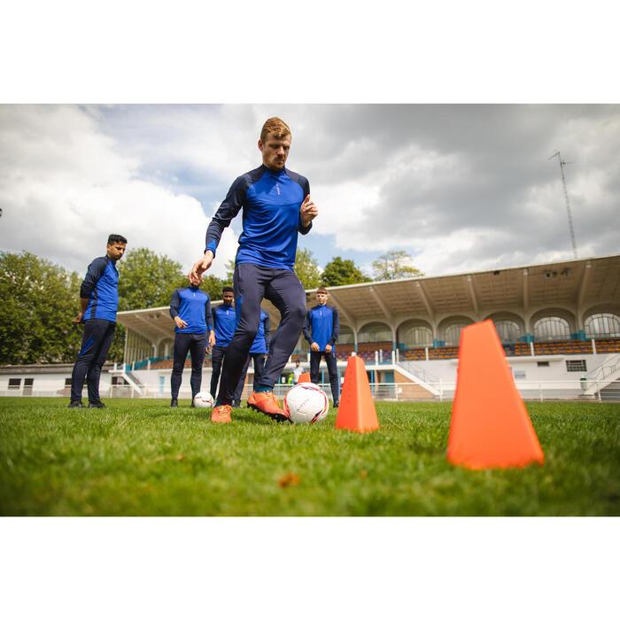 Set van 4 trainingskegels voor voetbal Essential 30 cm oranje