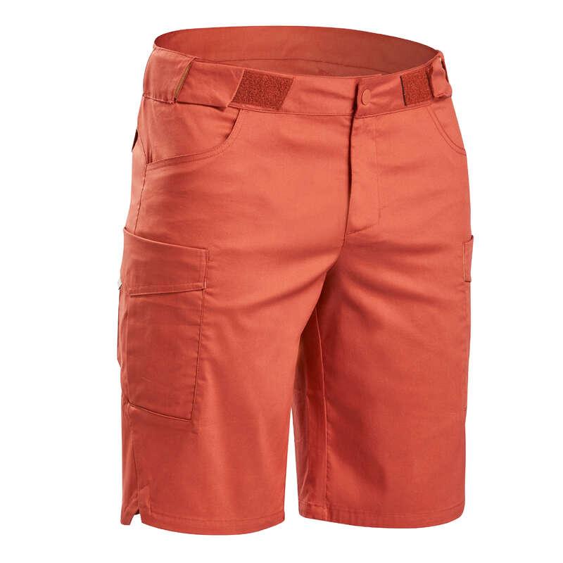 MEN NATURE HIKING SHORTS/T-SHIRTS Hiking - Shorts NH500 Fresh – Brick red QUECHUA - Hiking Clothes