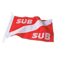 Internationaal signalisatievlaggetje voor de boei aan de oppervlakte
