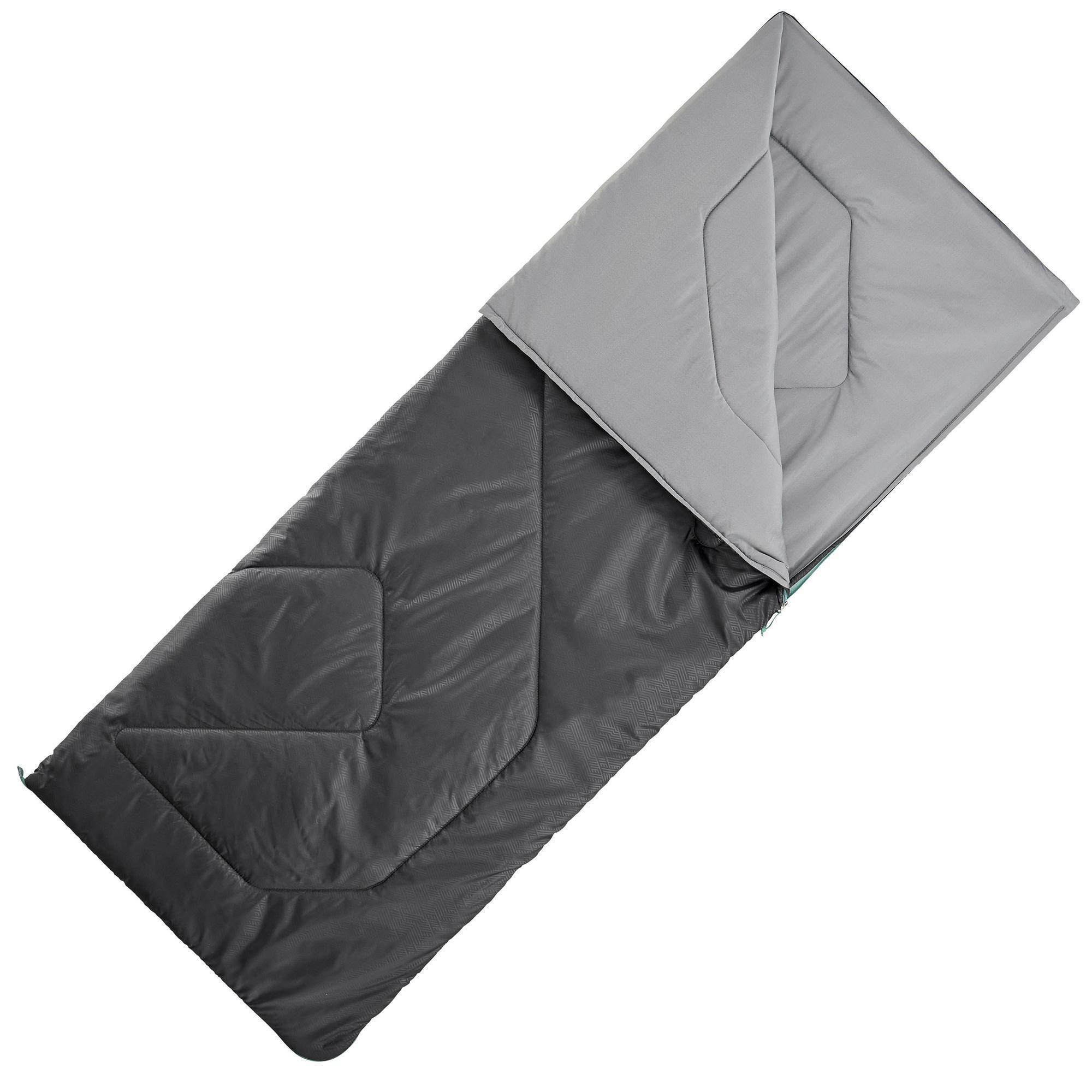 Schlafsack Camping Arpenaz 15°C schwarz