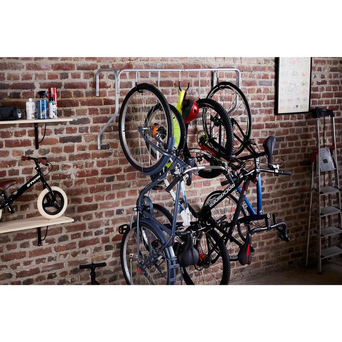 Muurdrager voor 5 fietsen