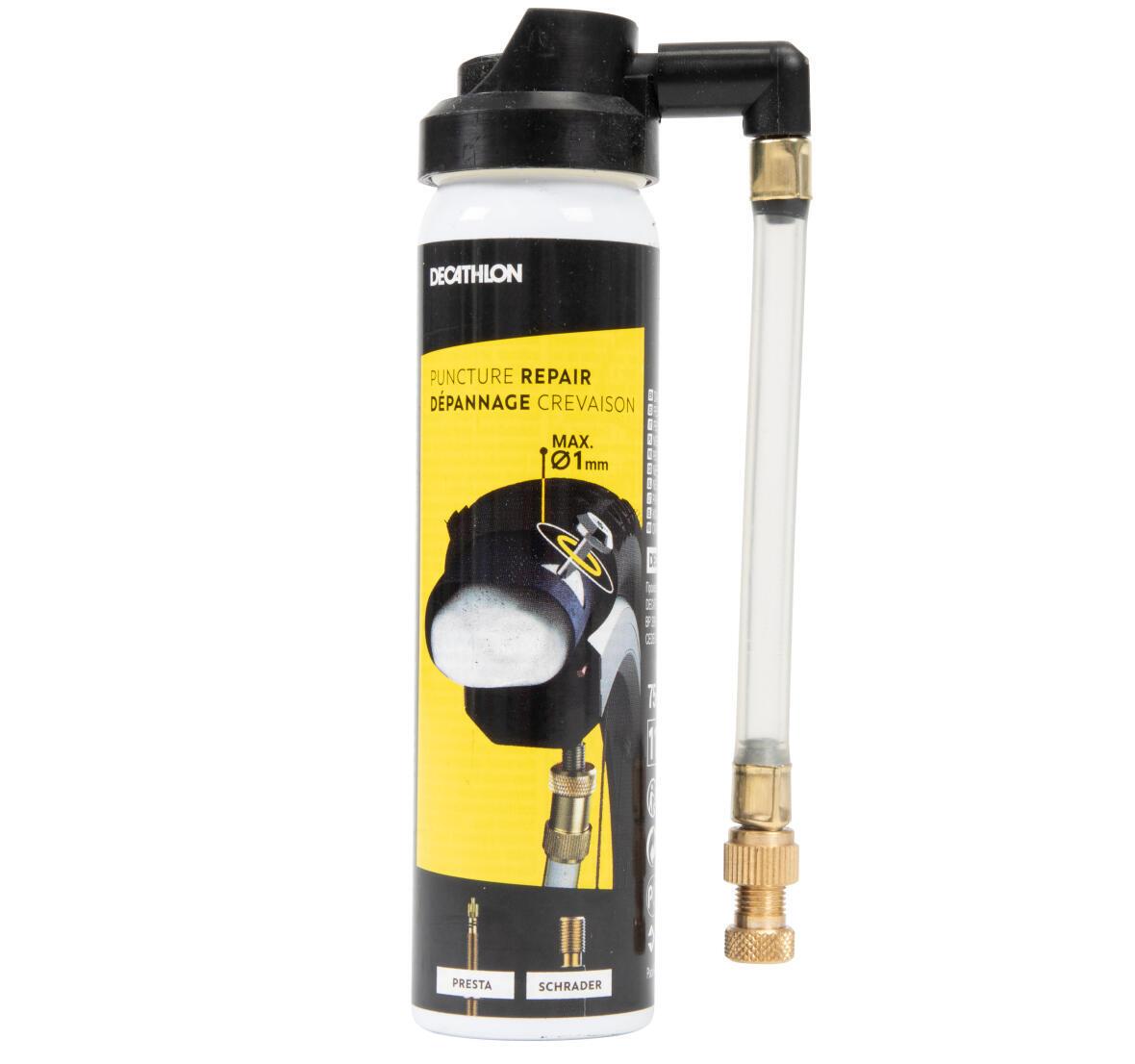 ROCKRIDER ST 100 MOUNTAIN BIKE compatible puncture repair spray