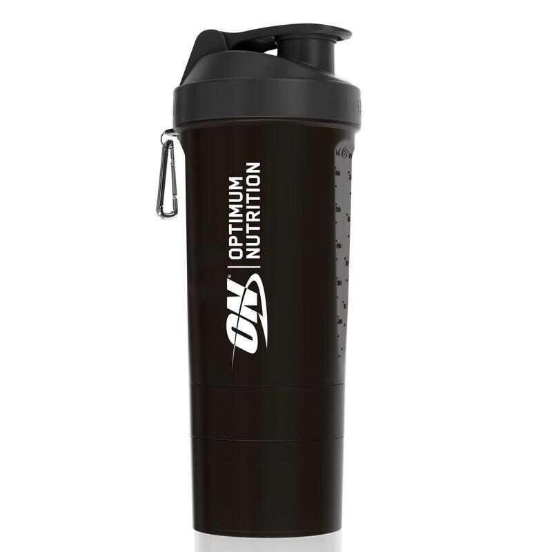 Vaso mezclador Shaker Optimum Nutrition 700ml con stacker de rosca