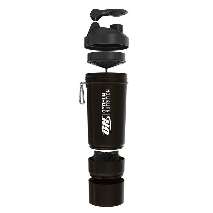 Shaker Optimum Nutrition 700ml met opvijsbare stacker