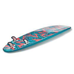 Planche de surf en mousse 7'8 500. Livrée avec 1 leash et 3 ailerons.